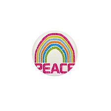 Peace Rainbow Mini Button