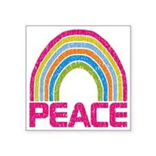 "Peace Rainbow Square Sticker 3"" x 3"""