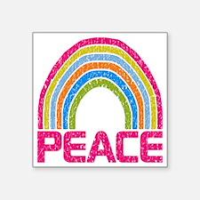 "Peace Rainbow Square Sticker 3"" x 3"""
