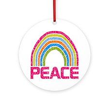 Peace Rainbow Round Ornament