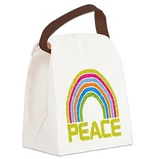 Peace Rainbow Canvas Lunch Bag