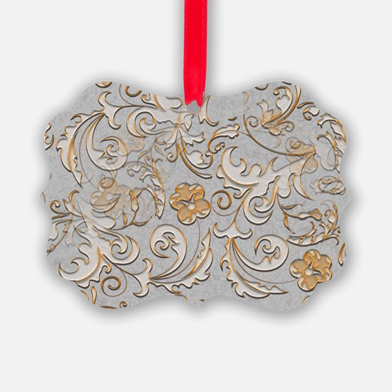 Gold and Silver Scrolls Ornament