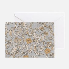 Gold and Silver Scrolls Greeting Card