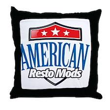 American Resto Mods Simple Logo Throw Pillow