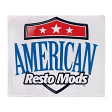 American Resto Mods Simple Logo Throw Blanket