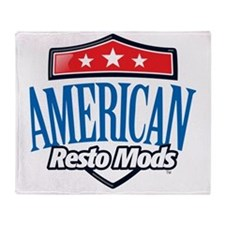 American Resto Mods Simple Logo Throw Blanket