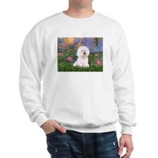 Lilies 4 / Bichon 1 Sweatshirt
