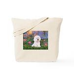 Lilies 4 / Bichon 1 Tote Bag