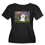 Lilies 4 / Bichon 1 Women's Plus Size Scoop Neck D