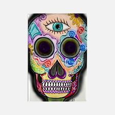 Skull - Eye Rectangle Magnet