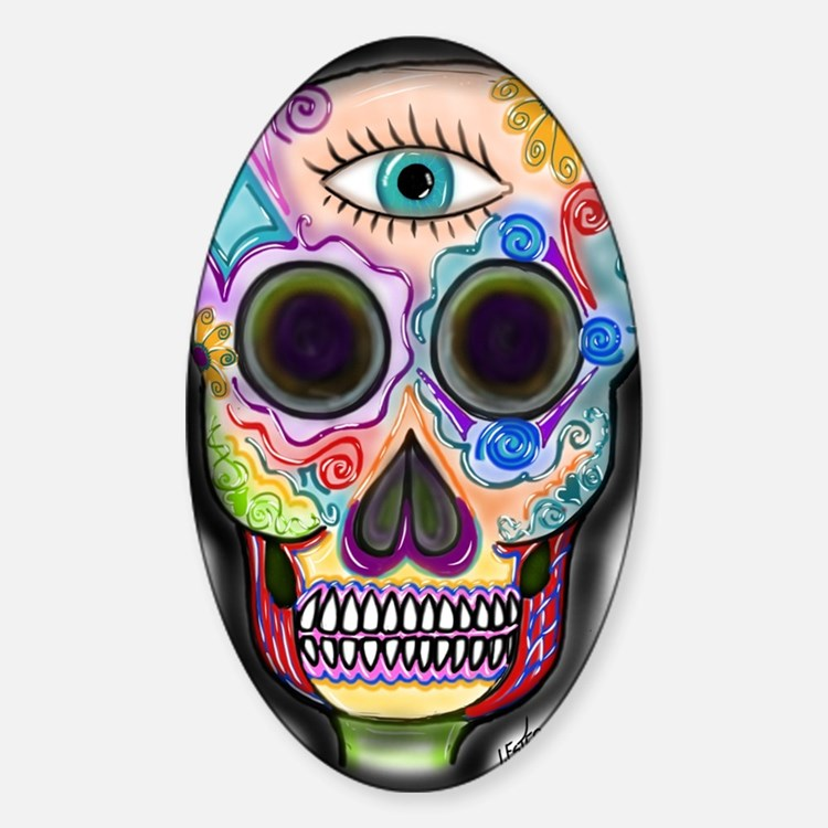 Skull - Eye Sticker (Oval)