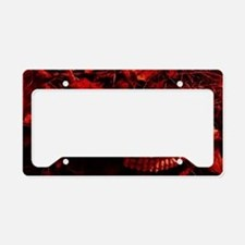 Red Skull License Plate Holder
