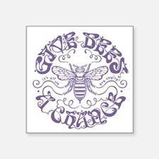 "bees-chance2-LTT Square Sticker 3"" x 3"""