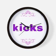 Vaping Kicks Butts Wall Clock