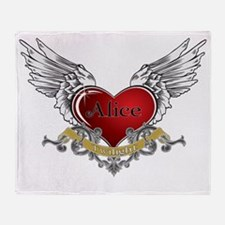 Twilight Alice Heart Wings 3 Throw Blanket