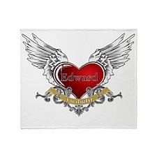 Twilight Edward Heart Wings 3 Throw Blanket
