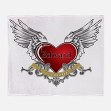 Twilight Edward Heart Wings 3 Throw Blanket