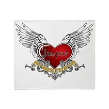 Twilight Jasper Heart Wings 3 Throw Blanket