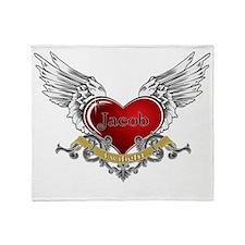 Twilight Jacob Heart Wings 3 Throw Blanket