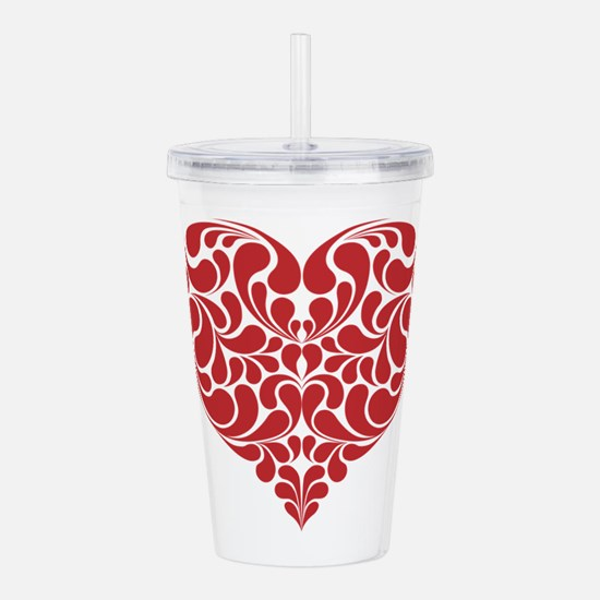 Real Heart Acrylic Double-wall Tumbler