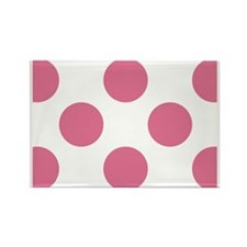 Big Dots PC W Pink Rectangle Magnet
