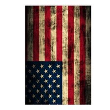 American Flag Grunge Postcards (Package of 8)