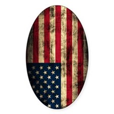 American Flag Grunge Decal