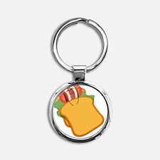 Goodnight, Bacon! Round Keychain