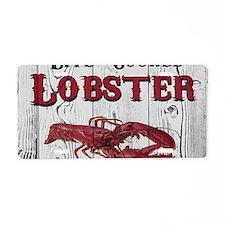 Lobster Aluminum License Plate