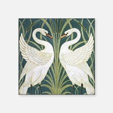 """swan and rush Square Sticker 3"""" x 3"""""""