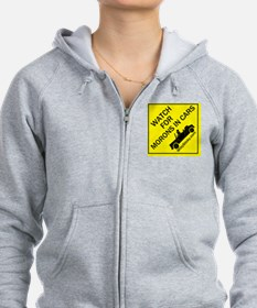 Watch For Morons In Cars Zip Hoodie