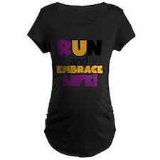 Run and Embrace Life Purple T-Shirt
