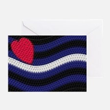 LEATHER PRIDE FLAG WAVE Greeting Cards (10PK