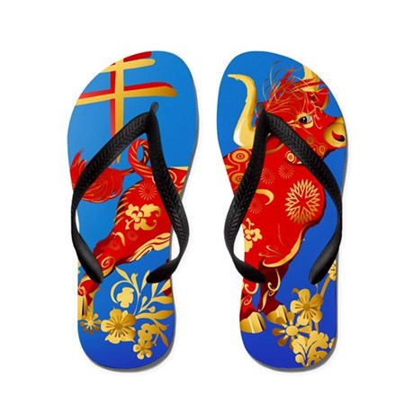 Pillow Year Of The Ox Flip Flops