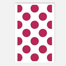Big Polka Dots 3x5 W Dk P Postcards (Package of 8)