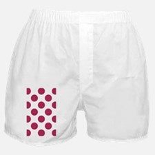 Big Polka Dots 3x5 W Dk Pink Boxer Shorts
