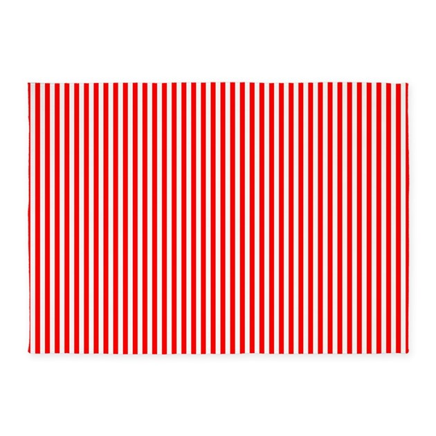 Red and white striped pattern 5 39 x7 39 area rug by admin for Red and white striped area rug