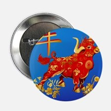 """Year Of The Ox 2.25"""" Button"""