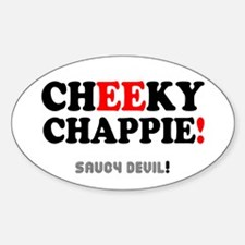 CHEEKY CHAPPIE - SAUCY DEVIL! Decal