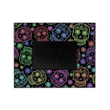 Day Of The Dead Pattern Picture Frame