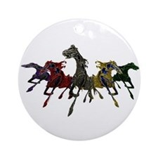 Horses of War Ornament (Round)