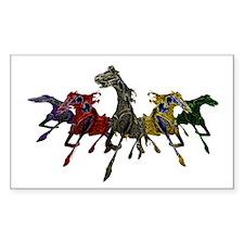 Horses of War Rectangle Decal