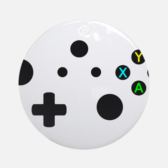 X Box Controller Round Ornament
