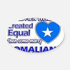 Somalian flag designs Oval Car Magnet