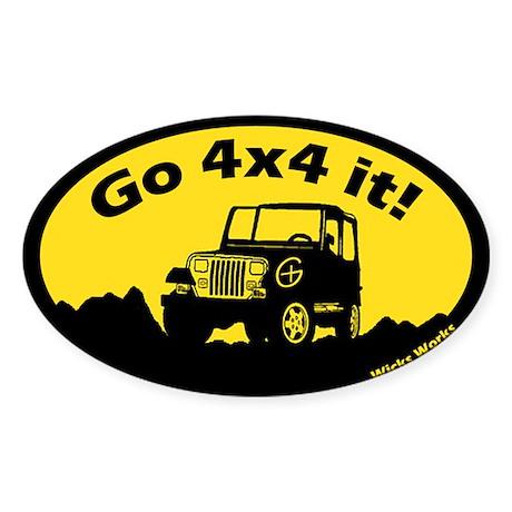 Wicks Works Go 4x4 it! Car Sticker