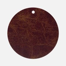 Wild West Leather 1 Round Ornament