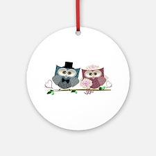 Wedding Owls Art Ornament (Round)