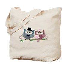 Wedding Owls Art Tote Bag