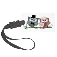 Wedding Owls Art Luggage Tag