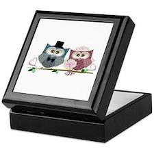 Wedding Owls Art Keepsake Box